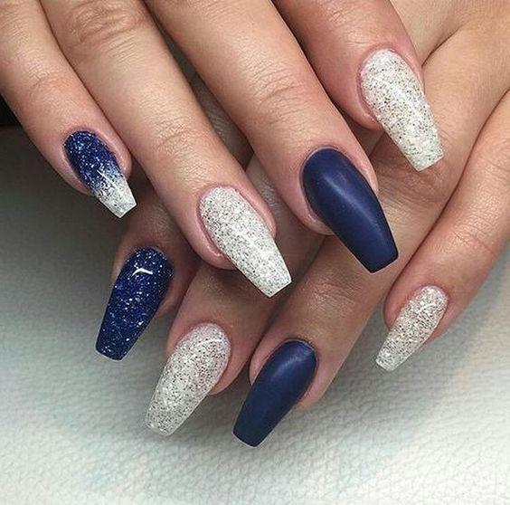 30 Glamorous Blue Nail Designs for Fashion Pros 12