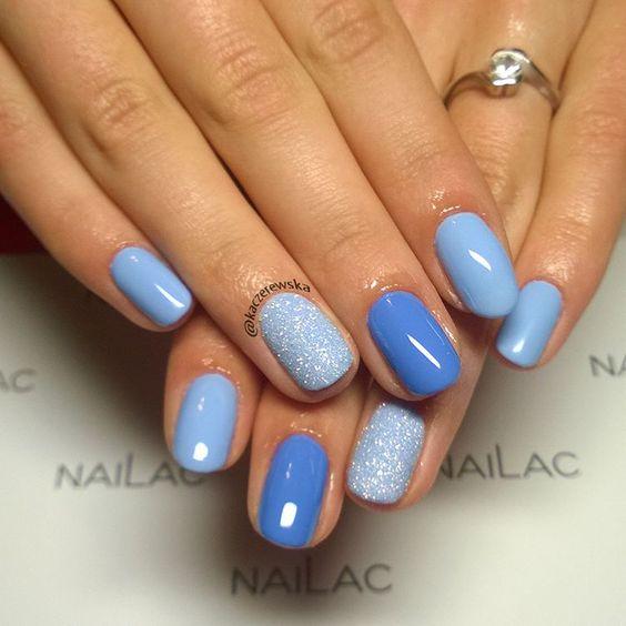 30 Glamorous Blue Nail Designs for Fashion Pros 13