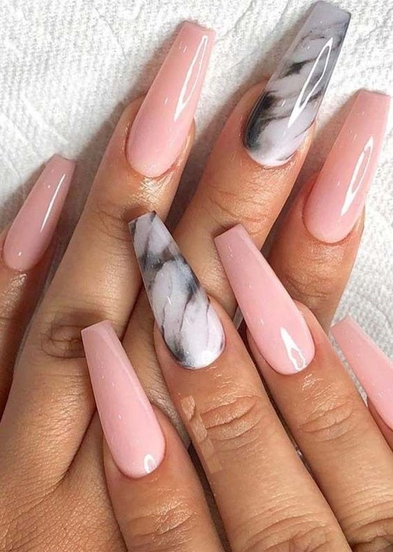 30 Eye-Catching Coffin Nail Designs to Rock this Year 18