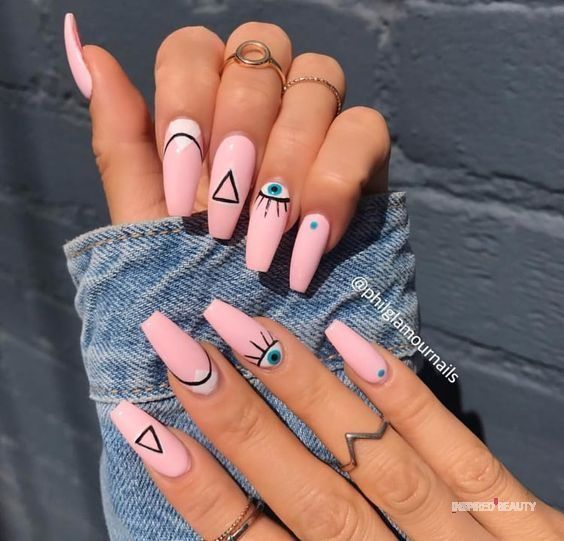 30 Eye-Catching Coffin Nail Designs to Rock this Year 27