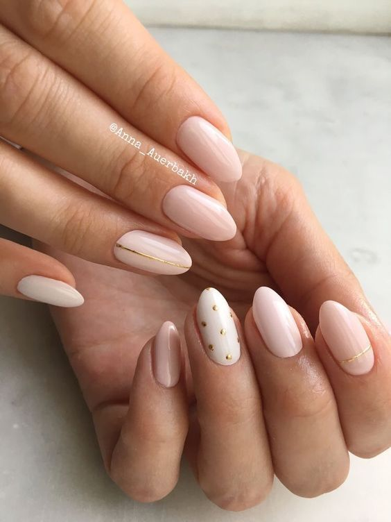 30 Unique Nude Nails to Try in 2020 16