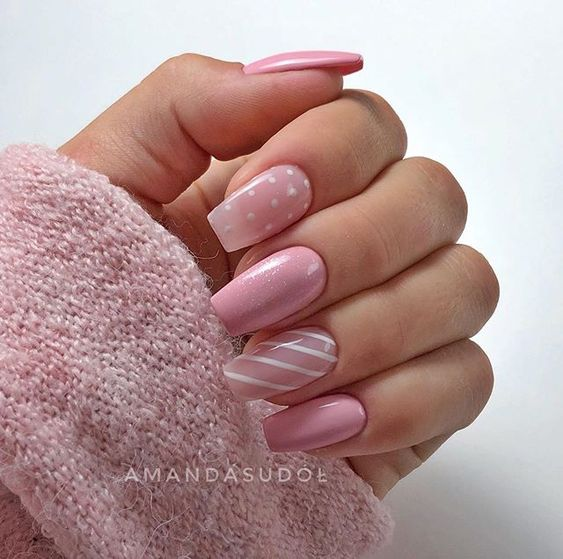 30 Cute Pink Nails to Elevate your Feminine Style 5