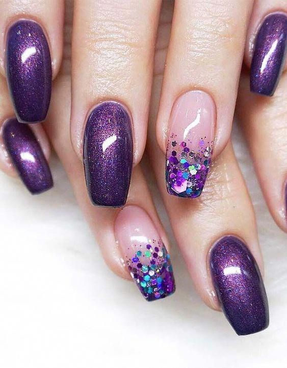 30 Elegant Purple Nails to Complement Your Outfits 1