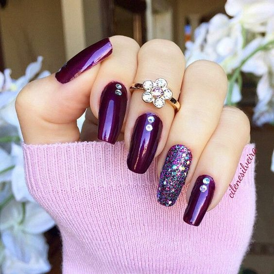 30 Elegant Purple Nails to Complement Your Outfits 2
