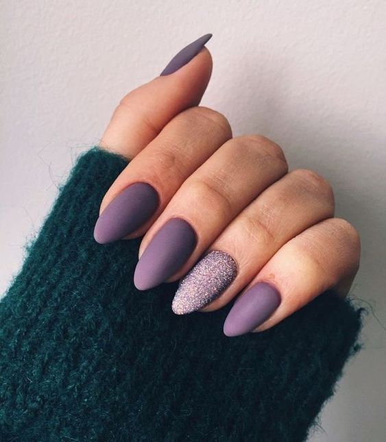 30 Elegant Purple Nails to Complement Your Outfits 3