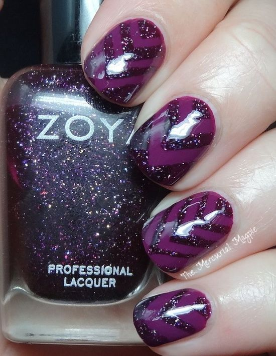 30 Elegant Purple Nails to Complement Your Outfits 4