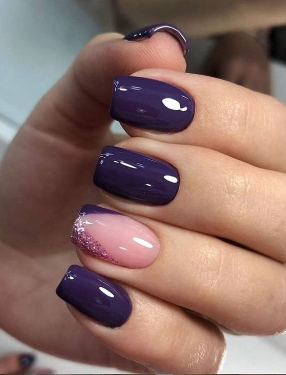 30 Elegant Purple Nails to Complement Your Outfits 7
