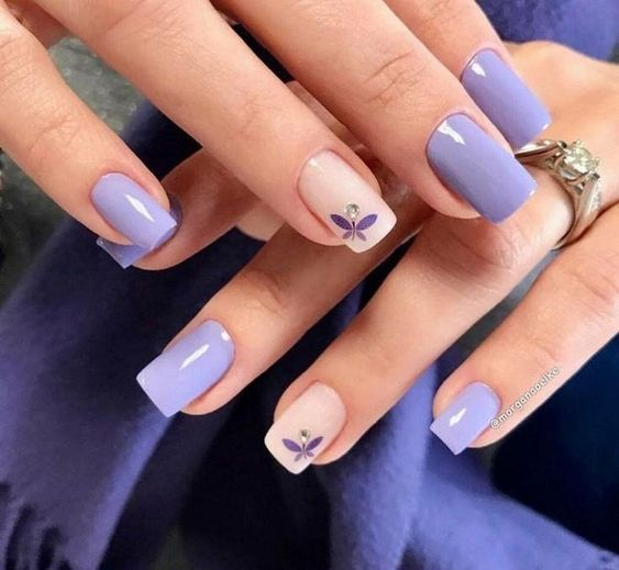 30 Elegant Purple Nails to Complement Your Outfits 8