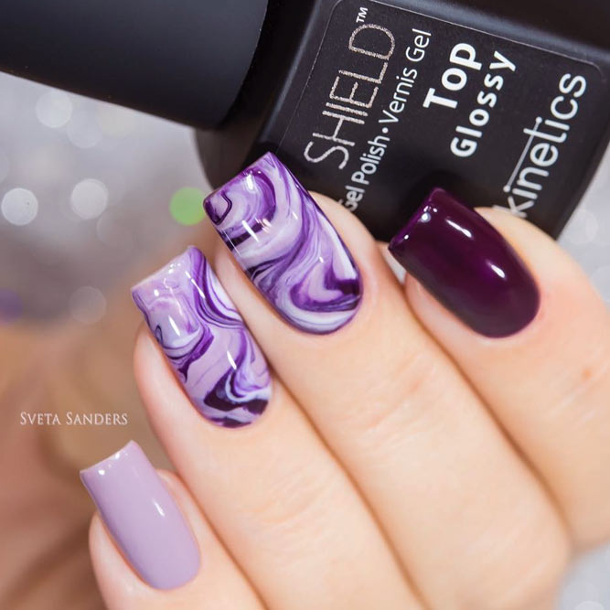 30 Elegant Purple Nails to Complement Your Outfits 9