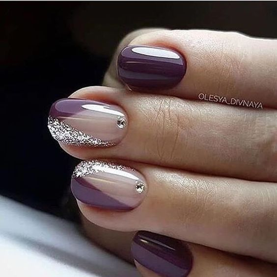 30 Elegant Purple Nails to Complement Your Outfits 10