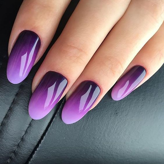 30 Elegant Purple Nails to Complement Your Outfits 11