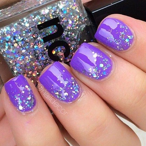 30 Elegant Purple Nails to Complement Your Outfits 12