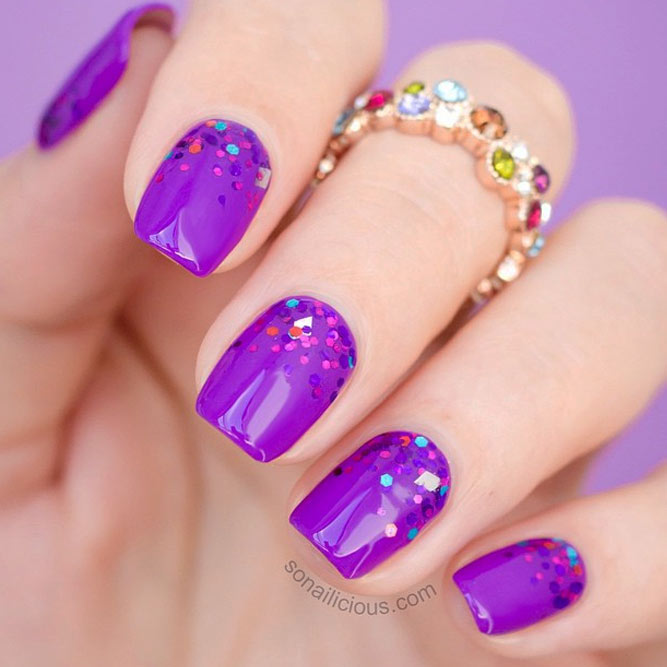 30 Elegant Purple Nails to Complement Your Outfits 14