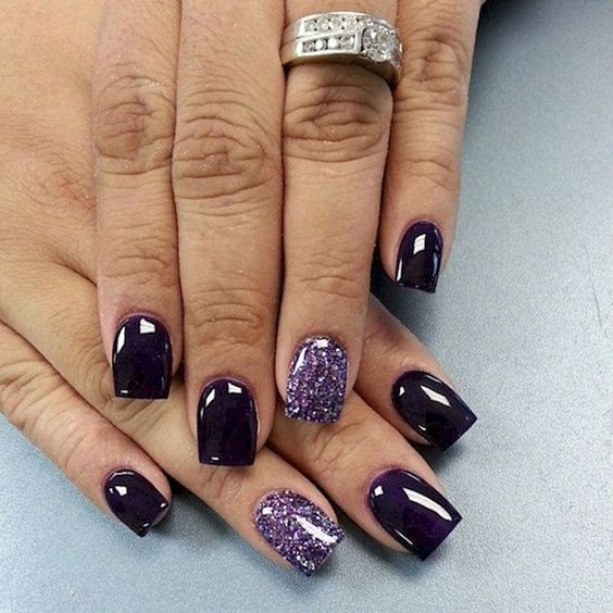 30 Elegant Purple Nails to Complement Your Outfits 19