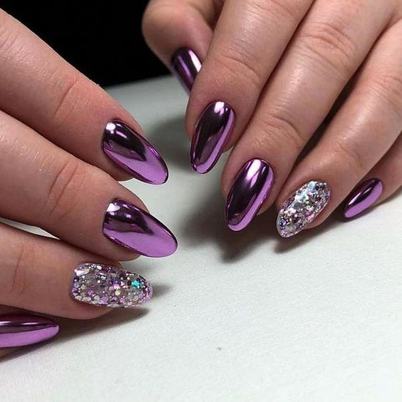 30 Elegant Purple Nails to Complement Your Outfits 24