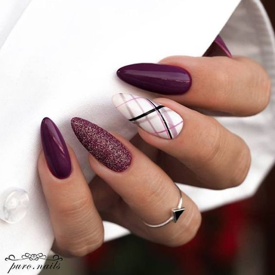 30 Elegant Purple Nails to Complement Your Outfits 28