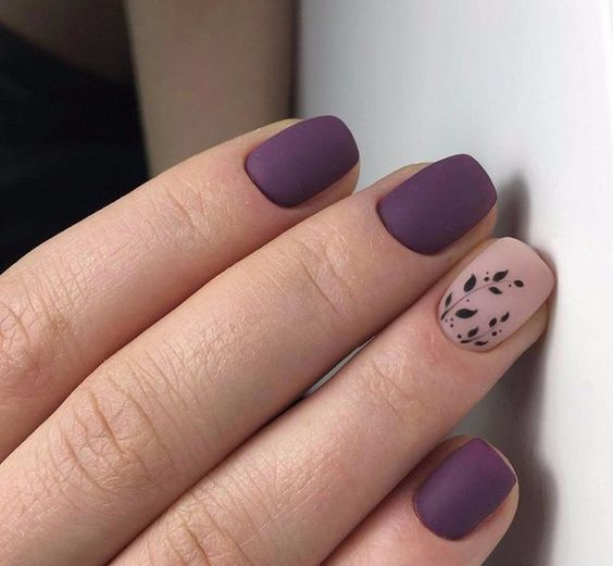 30 Elegant Purple Nails to Complement Your Outfits 29