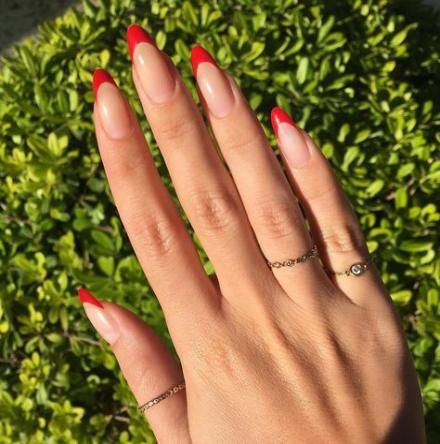 30 Cute Red Acrylic Nails to Embellish Your Hands 2