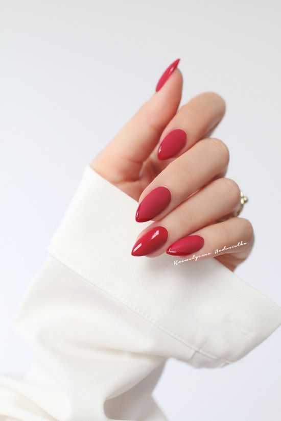 30 Cute Red Acrylic Nails to Embellish Your Hands 3