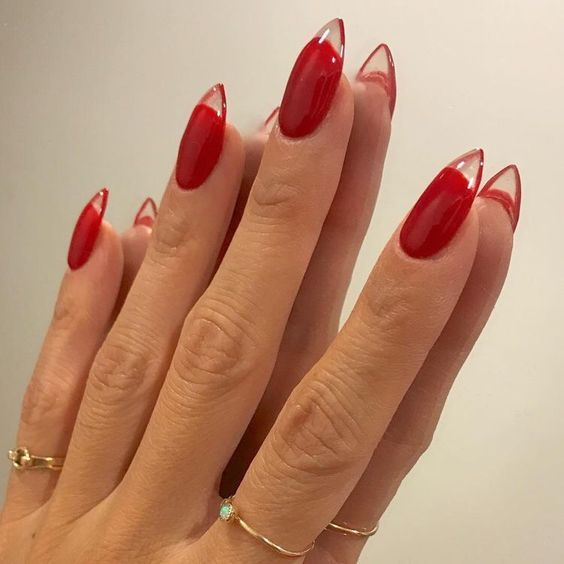 30 Cute Red Acrylic Nails to Embellish Your Hands 4