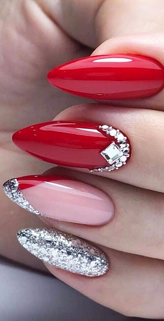 30 Cute Red Acrylic Nails to Embellish Your Hands 7