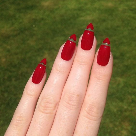 30 Cute Red Acrylic Nails to Embellish Your Hands 13