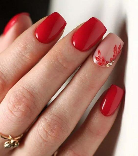 30 Cute Red Acrylic Nails to Embellish Your Hands 14
