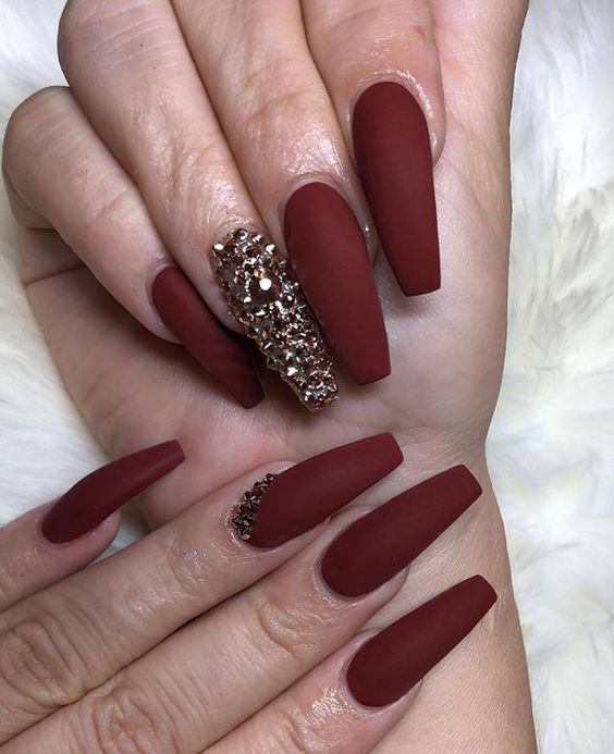 30 Cute Red Acrylic Nails to Embellish Your Hands 21