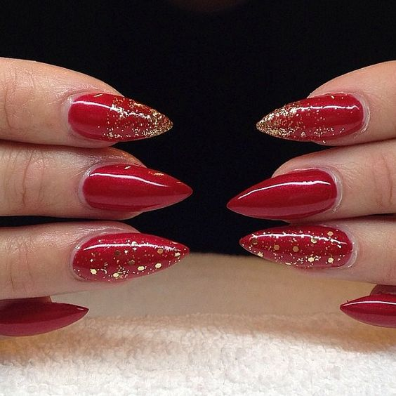 30 Cute Red Acrylic Nails to Embellish Your Hands 24
