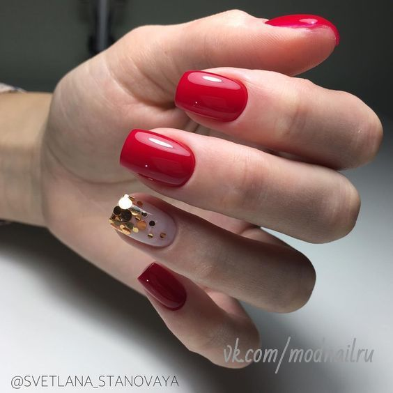 30 Cute Red Acrylic Nails to Embellish Your Hands 25