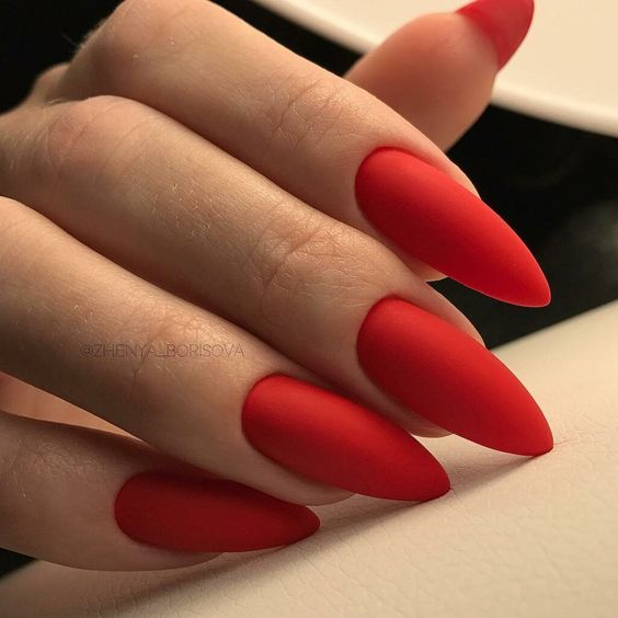30 Cute Red Acrylic Nails to Embellish Your Hands 28