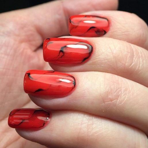 30 Cute Red Acrylic Nails to Embellish Your Hands 29