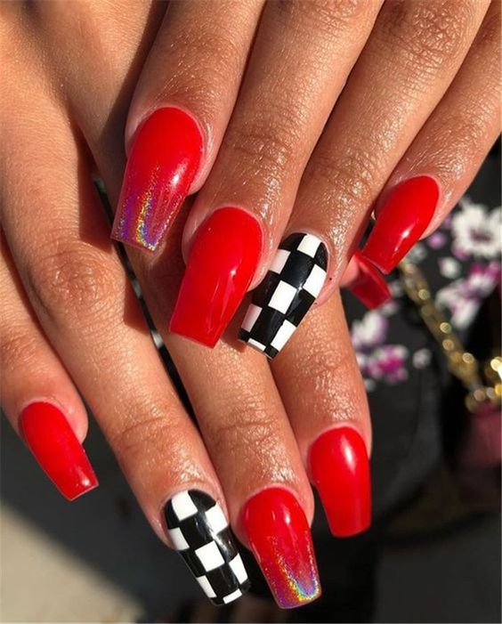 30 Cute Red Acrylic Nails to Embellish Your Hands 30