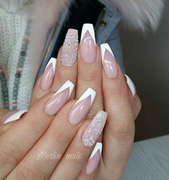 30 Modern White Tip Nails for Every Personality 1