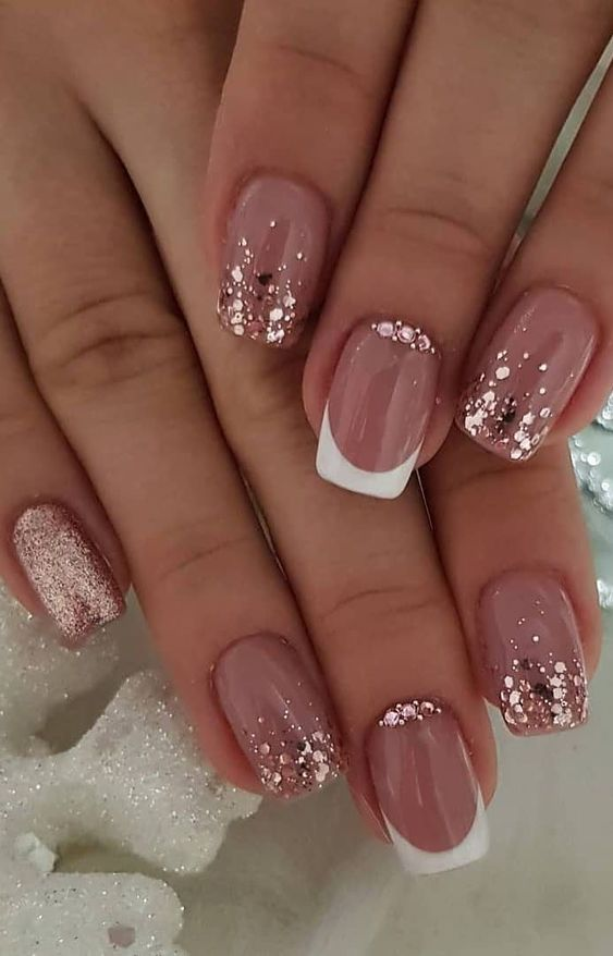 30 Modern White Tip Nails for Every Personality 11