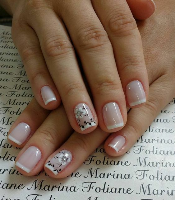 30 Modern White Tip Nails for Every Personality 12