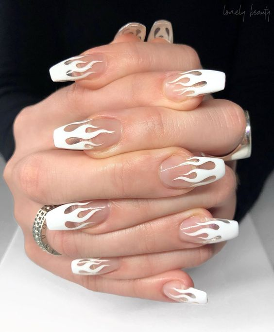 30 Modern White Tip Nails for Every Personality 17