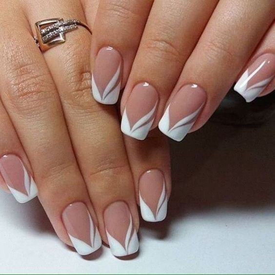 30 Modern White Tip Nails for Every Personality 18