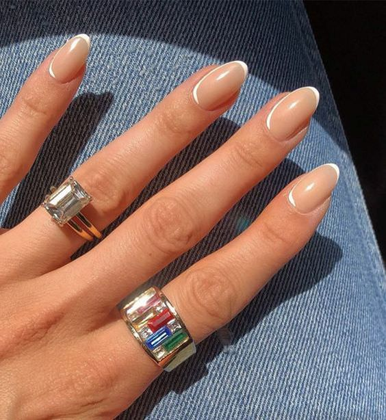 30 Modern White Tip Nails for Every Personality 21