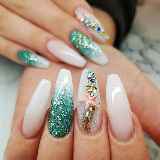 30 Mermaid Nails Design to Step-Up Your Mani Game 3