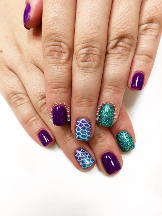 30 Mermaid Nails Design to Step-Up Your Mani Game 4