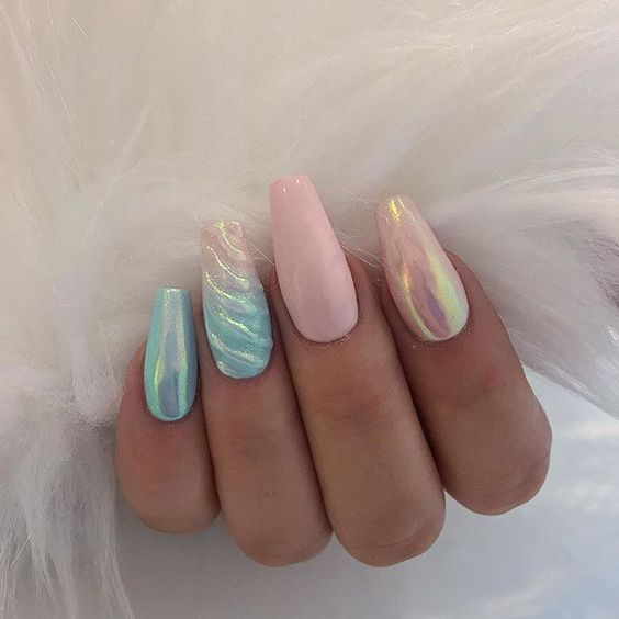 30 Mermaid Nails Design to Step-Up Your Mani Game 5