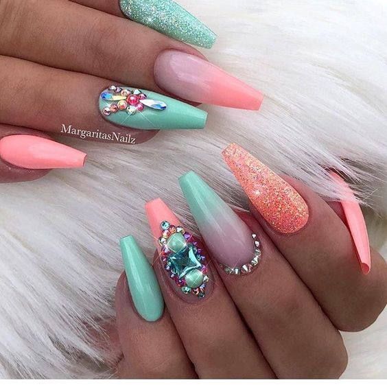 30 Mermaid Nails Design to Step-Up Your Mani Game 8