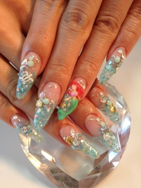30 Mermaid Nails Design to Step-Up Your Mani Game 10