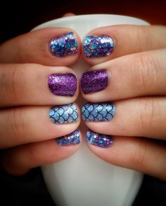 30 Mermaid Nails Design to Step-Up Your Mani Game 14