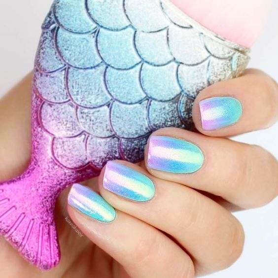 30 Mermaid Nails Design to Step-Up Your Mani Game 21