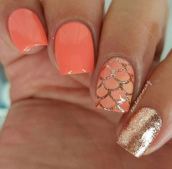 30 Mermaid Nails Design to Step-Up Your Mani Game 25