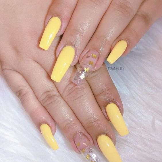 30 Ideas To Pull Off Amazing Yellow Acrylic Nails