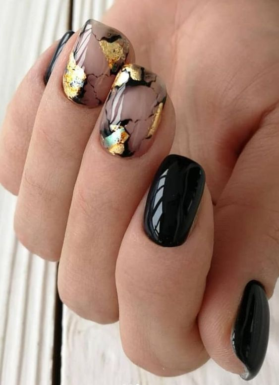 30 Stylish Black Nail Designs to Sport All-Year-Round 2