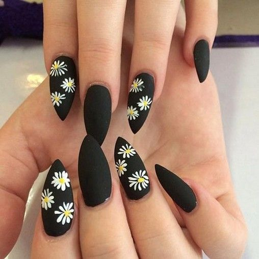 30 Stylish Black Nail Designs to Sport All-Year-Round 8